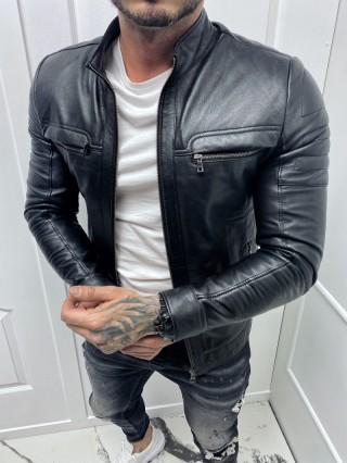 Мъжко спортно яке от естествена агнешка кожа (MLM-0001)
