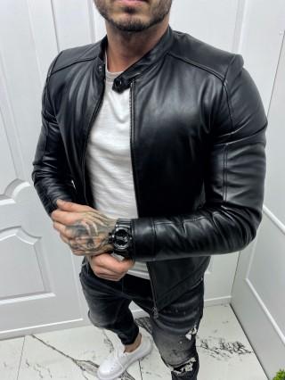 Мъжко изчистено яке от естествена агнешка кожа (MLM-0003)