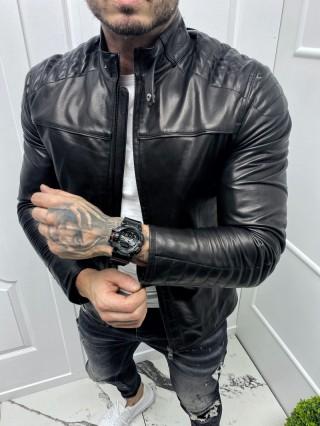 Мъжко спортно кожено яке  (MLM-0009)