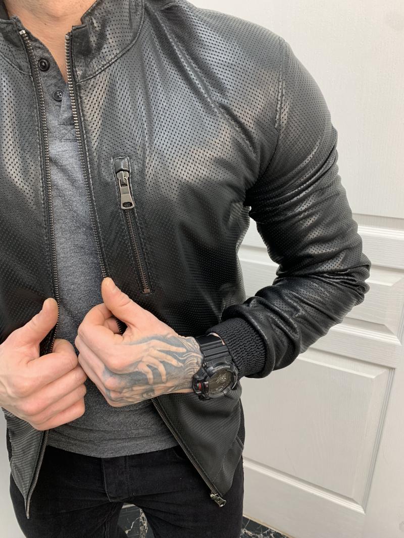 Mъжко спортно яке от естествена кожа (MLM-0070)